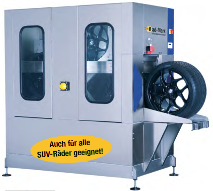 Rad-Mark® Big Wheel 4-Rad Waschmaschine